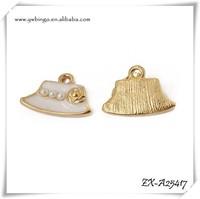 Antique Bronze Lovely Cowboy Hat Charm Pendant Wholesale Charms ZX-A25417