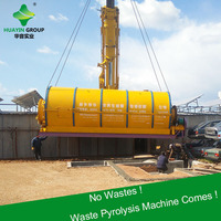 No carbon black pollution problem waste oil extracting machine waste tires/plastics