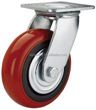 Heavy duty Korean Style PU wheel Caster, double ball bearing