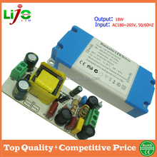 Sample free 18w constant current 300ma dimmable led driver with plastic cover for led Lights