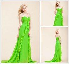 2012 Sweet Heart Fashion Chiffon Bridesmaid Dress with Invisable Zipper