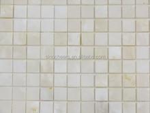 Pure white onyx square mosaic tiles 1x1''honed