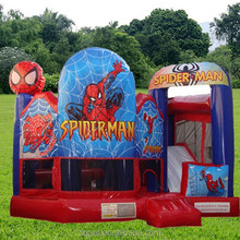 inflatable bouncer spiderman slide for adults