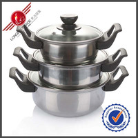3 Pcs Professional Stainless Steel Cookware Magnetic Stainless Steel Cookware