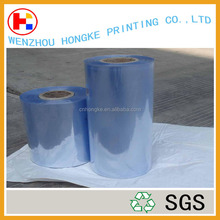 Customed POF/PET/PE/PVC transparent clear heat resistant plastic shrink film roll type with factory price