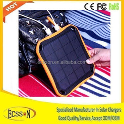 The newest waterproof portable 5600mah usb power bank mini solar charger