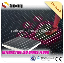 Interactive animation will light up when dancer dance on the dance floor
