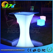 Color changing commercial bar furniture PE LED coffee table
