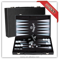 Turkish Leather Backgammon Checkers Chess Game Set