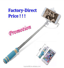 New arrival selfie stick: Super Mini Selfie Monopod Stick,portable cable take pole selfie stick for Android and ios systems