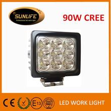 Car accessories 12V 24v led lights 90w 6.3inch super bright LED work light 90w led headlight 30w waterproof led work light