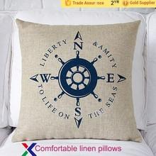 Wholesale Canvas Fabric Cushion Furniture Decorative Pillow Case Plain Bed Pillows