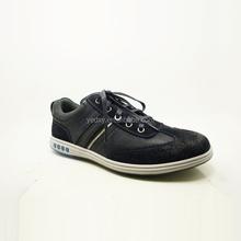 dark blue fashion latest model men leather sport shoes