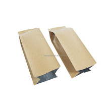 Trade assurance side gusset kraft brown paper bag for packing food,foil lined kraft paper bag with side gusset