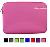 "13.3"" Pink Neoprene Soft Zipper Case Pouch Sleeve Cover Bag for Macbooks Pro"