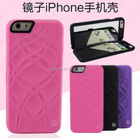 "For Apply iPhone 6 (4.7"") Snap-On TPU Hidden Credit Card Slots Mirror Case with mix color"