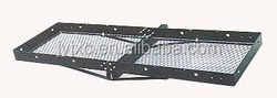 trailer hitch mounted deluxe folding cargo carrier 350lbs