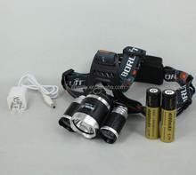Best Seller BORUIT RJ-3000 headlight 5000 Lumen led bicycle headlight camping high power battery powered led headlight