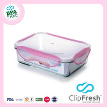 Clip Fresh Borosilicate Glass Food Container BPA Free with Locks 1450ml