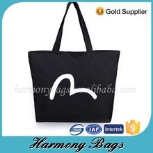 Classic design Economic practical cblack canvas shopping bag