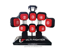 new design boxing punching bag/Leather professional boxing gloves