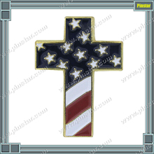 Qibla Direction Custom Christian Cross Special Design Pin with USA Confederate Flags METAL LAPEL PINS/METAL BADGE/PIN BADGE