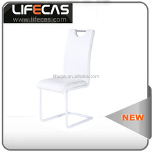 welcomed nice appearance white leather dining chair