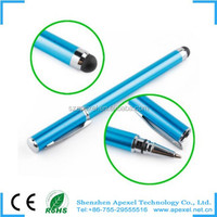 2 in 1 short stylus touch pen for iphone,ipad 2014 most popular