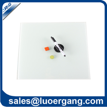 erasable clear tempered glass white board with pen