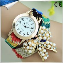 relojes mujer 2015 Fashion Women Casual Butterfly Bracelet Rhinestone Watches montre femme Quartz Wristwatch relogio WW008