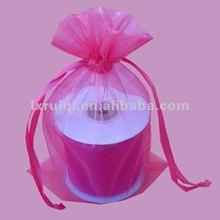 2012 fashion hot pink style large organza bag