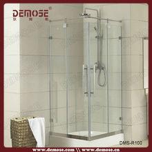 Estilo abierto ducha cubículos con espesor de 8 mm ducha aseo cubículo
