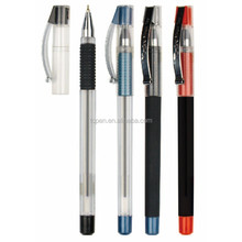 Small MOQ Plastic black matt rubber gel pen