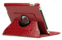 100% enviromental PU synthetic leather 360 degree rotation for ipad 4 cover
