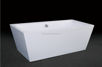 square portable freestanding acrylic bathtub for adults, bath tub from China sanitary ware