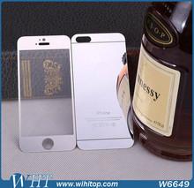 Colorful avant retour protecteur d'écran en verre trempé pour iPhone 5 5S