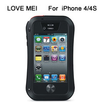 LOVE MEI Waterproof Phone Case for iPhone 4 4S