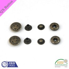 hidden snap button for jacket,metal button factory,metal snap button type