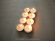 wholesale 8 hours burning white paraffin tealight candle pure 100&% stearic palm wax