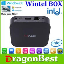 Wintel W8 Mini PC 2G 32G Quad Core Smart TV Box Z3735F Widows 8.1 Pro