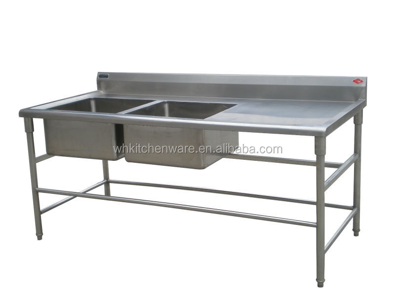 Restaurant Commercial Kitchenware Supplier Stainless Steel Working - Stainless steel work table with sink