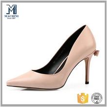 Elegant real leather upper formal shoes office ladies high heels
