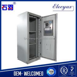 42u 19 inch rack outdoor cabinet solution/SK-366 outdoor waterproof cabinet with air conditioner
