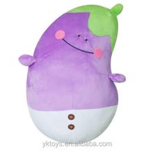 Custom stuffed vegetable plush eggplant toy