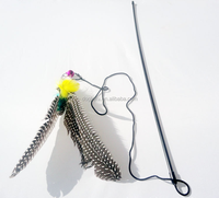 wholesale cat toy / feather cat toy / cat wand with feather/cat dangler with feather/cat teaser with feather