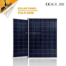 guangzhou felicity High Effective photovoltaic Solar Panels 200 watt