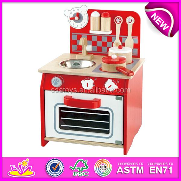 2015 New toy pretend kitchen,popular wooden toy kitchen set and best seller wooden toy kitchen W10C065