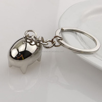 free shipping Wholesale stock hot sale zinc alloy cute mini pig Keychain /keyring for handbag