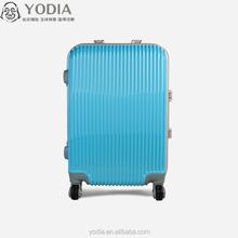 Aluminum Trolley large luggage case Colorful Customized ABS PC luggage case