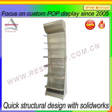 pop custom freestanding dry goods display rack